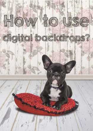 How to use digital backdrops